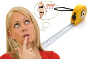 Perdre du poids inconsciemment avec un mètre à mesurer